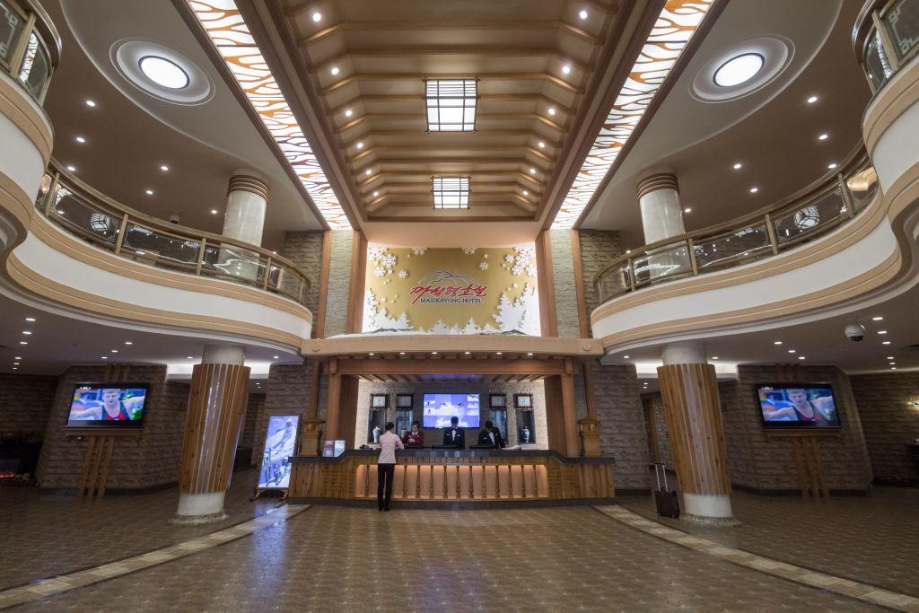 Lobby of North Korean ski resort