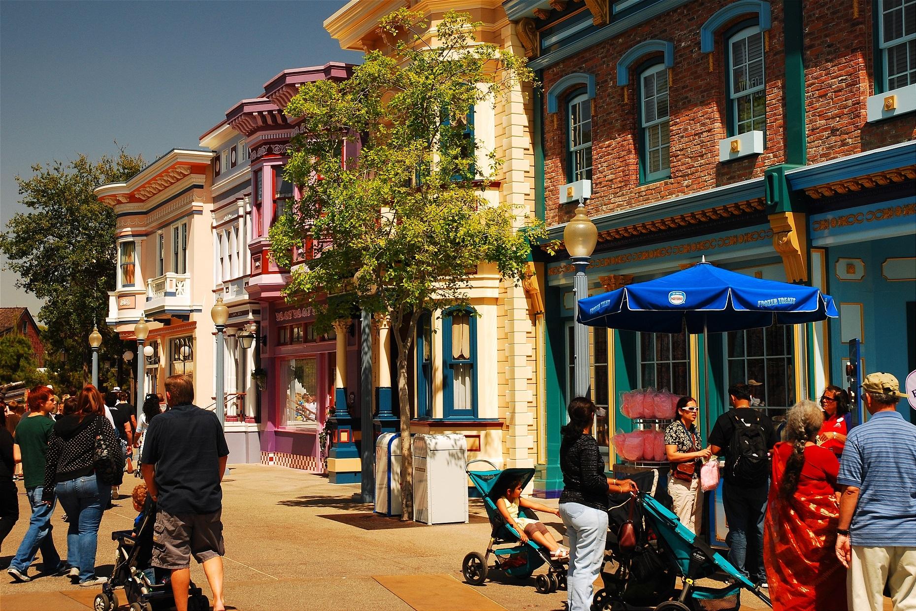 Disney main street usa in California