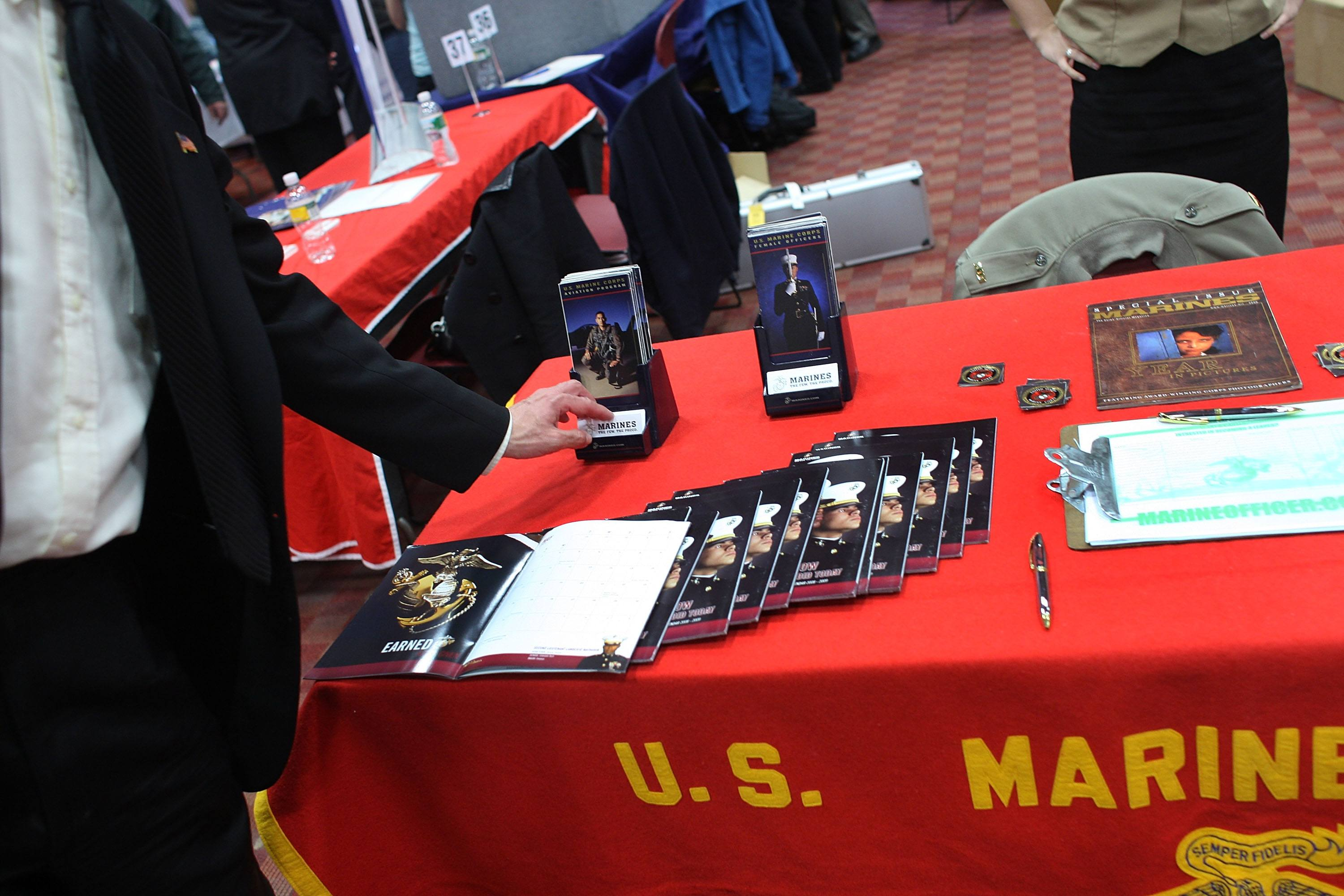 Military recruiting Marines