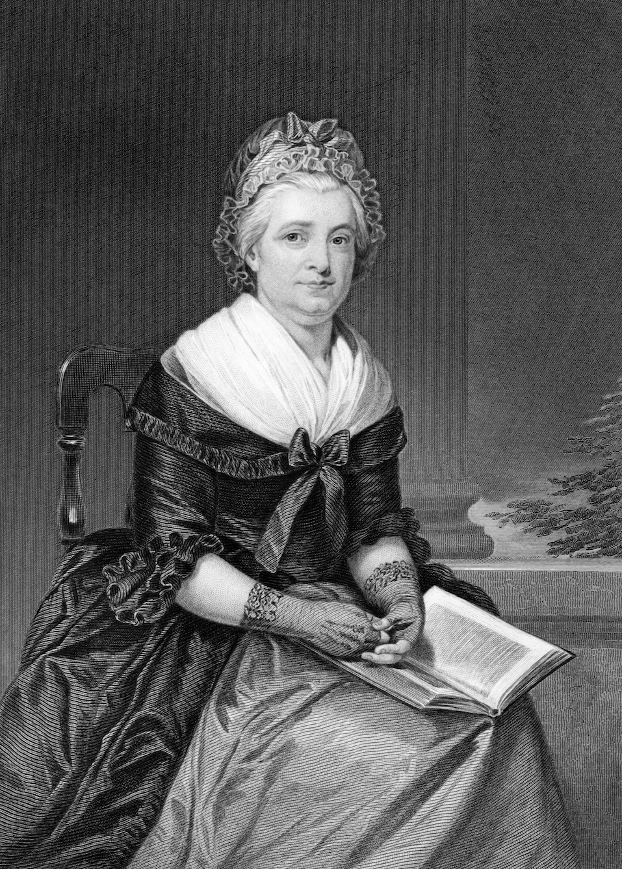Martha Washington on engraving from 1873. Wife of George Washington,president of the USA