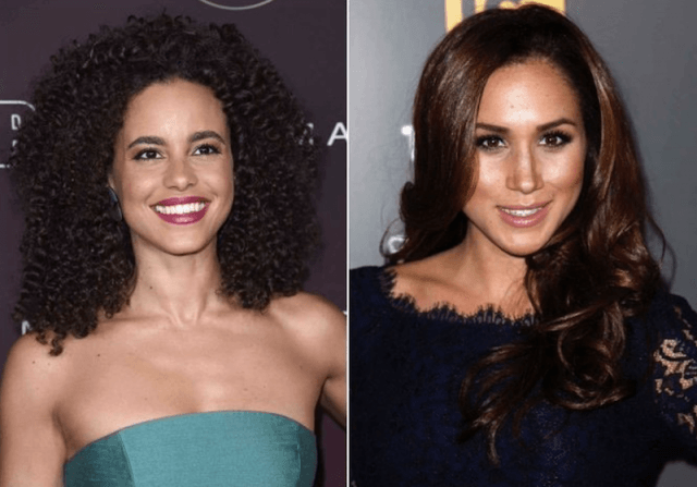 Parisa Fitz-Henley and Meaghan Markle collage.