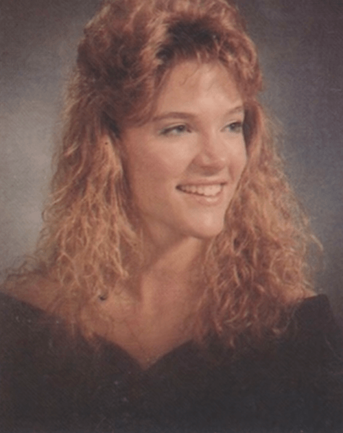 Megyn Kelly in her high school graduation photo.