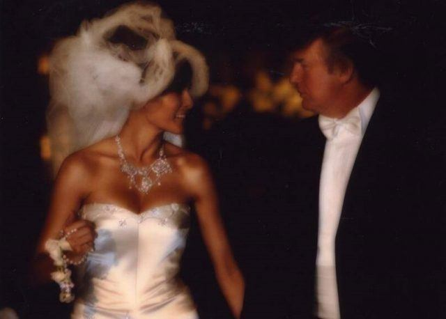 Melania and Donald Trump on their wedding day.