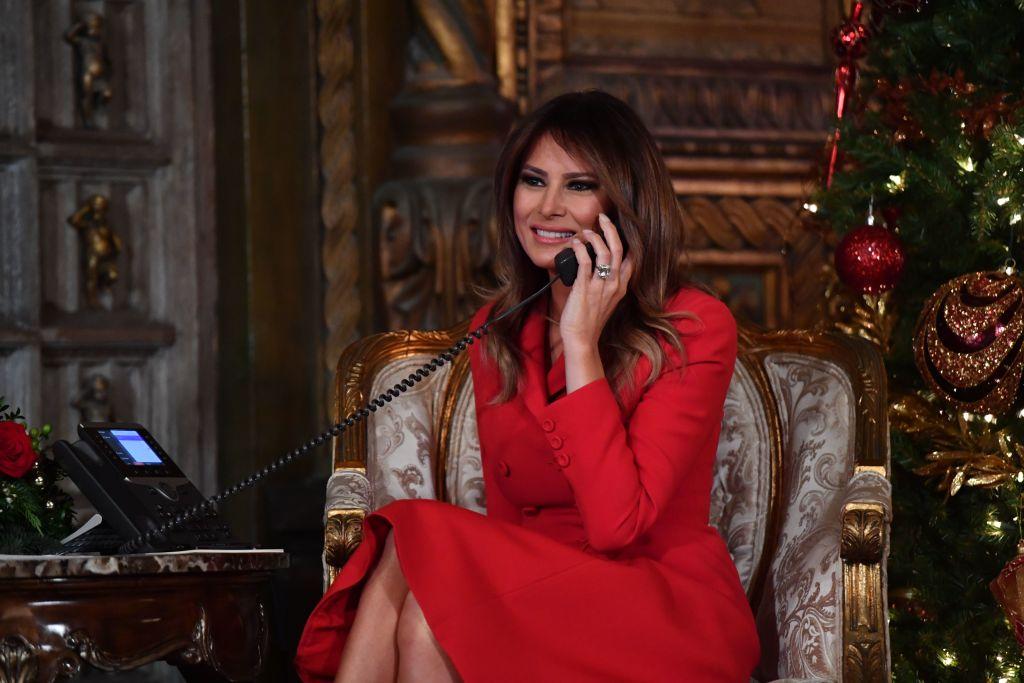 First Lady Melania Trump participates in NORAD Santa Tracker