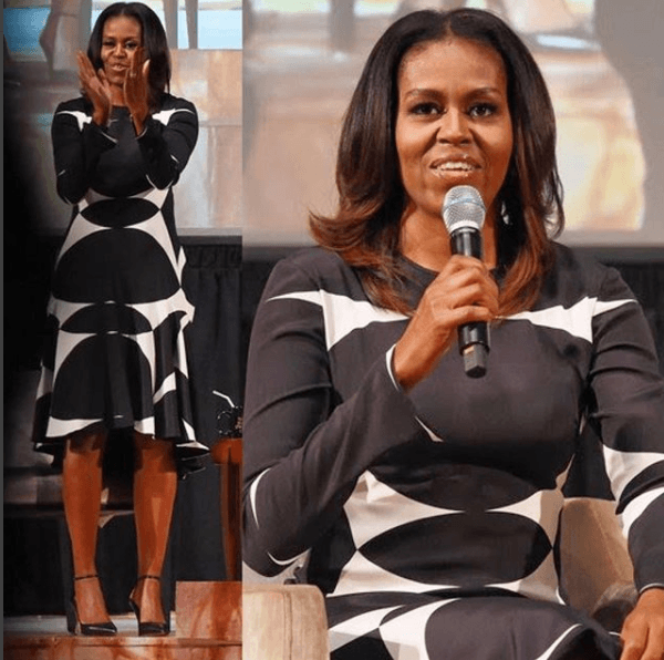 Michelle Obama Naeem Khan dress