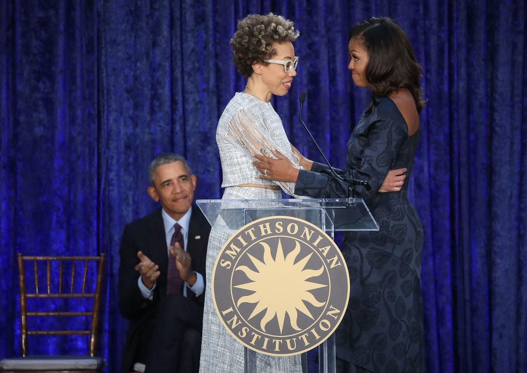 Michelle Obama and portrait artist Amy Sherald