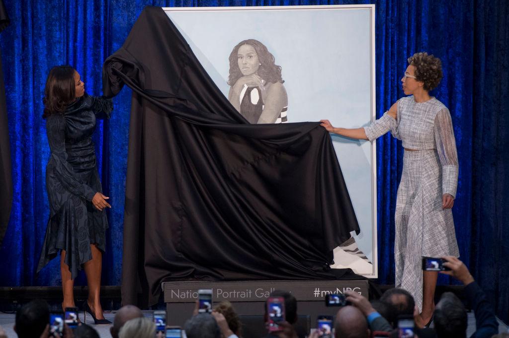 Michelle Obama reveals her portrait