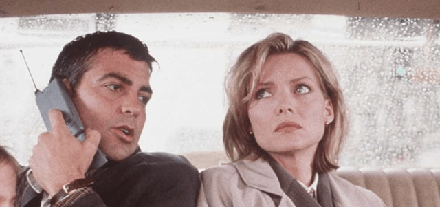 Michelle Pfeiffer and George Clooney in 'One Fine Day'.