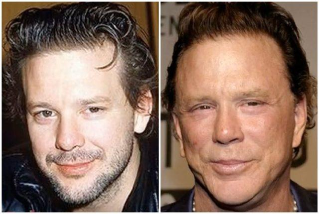 Mickey Rourke collage.