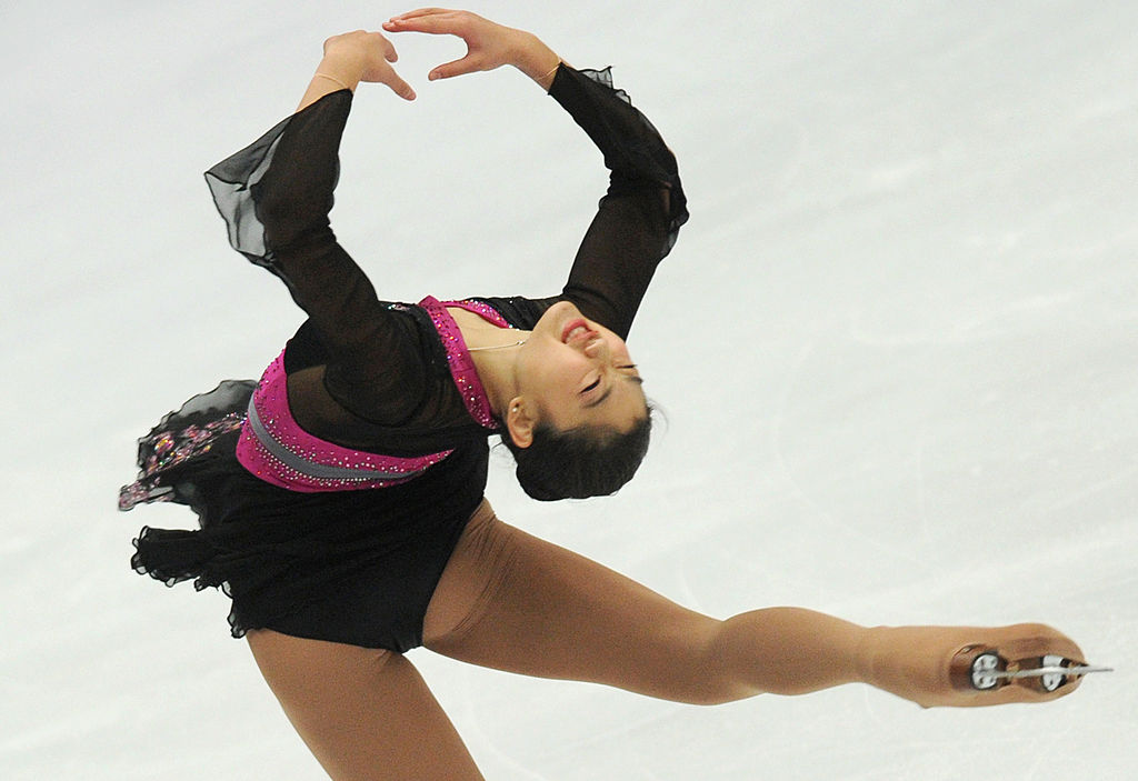 Mirai Nagasu of the US performs in free skating program