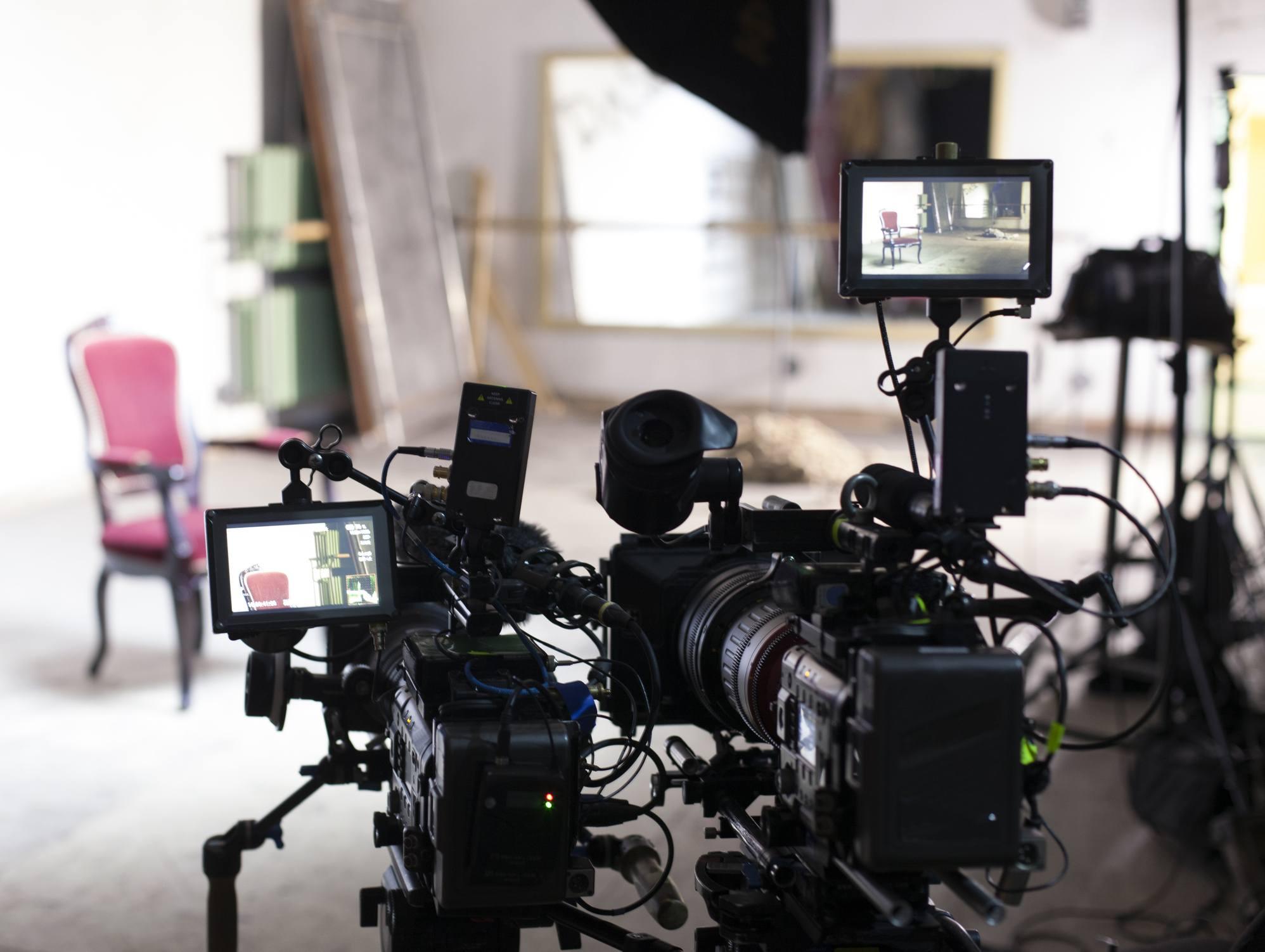 Professional digital video camera.