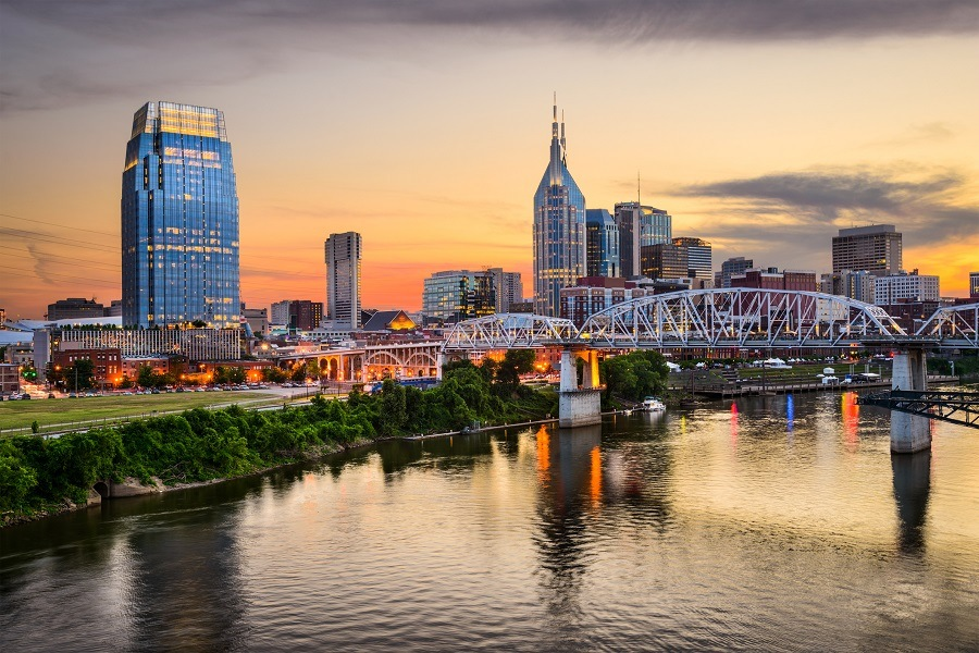 Nashville, Tennessee, is sprawling and spread out
