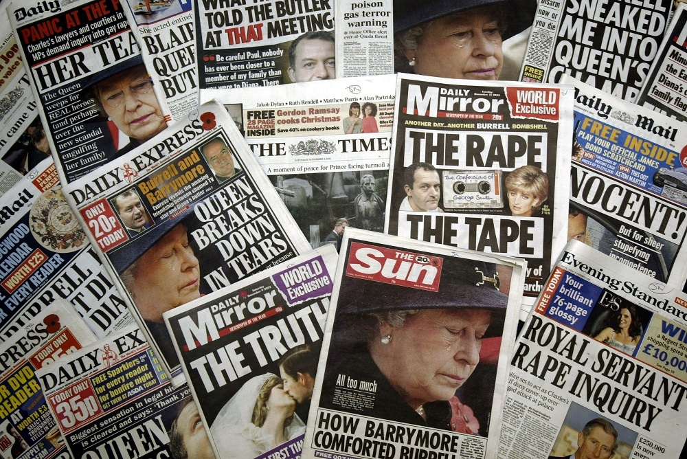 Many United Kingdom tabloids and National broadsheets' front pages