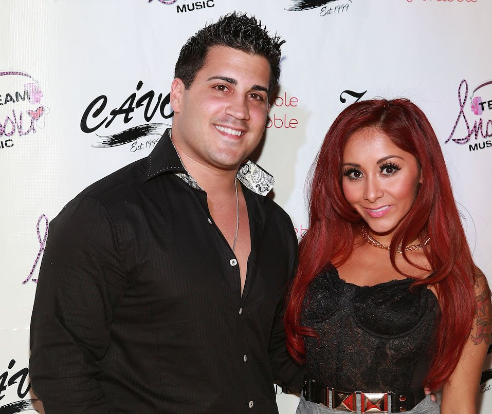 Jionni LaValle and Nicole 'Snooki' Polizzi attends Nicole 'Snooki' Polizzi birthday at Cavo