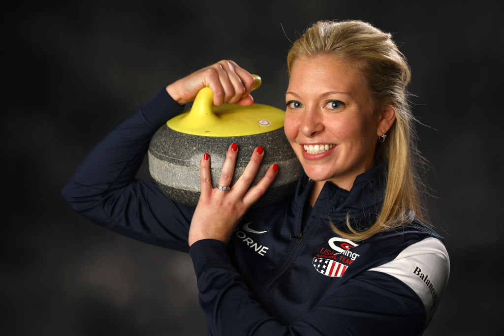 Curler Nina Roth poses for a portrait