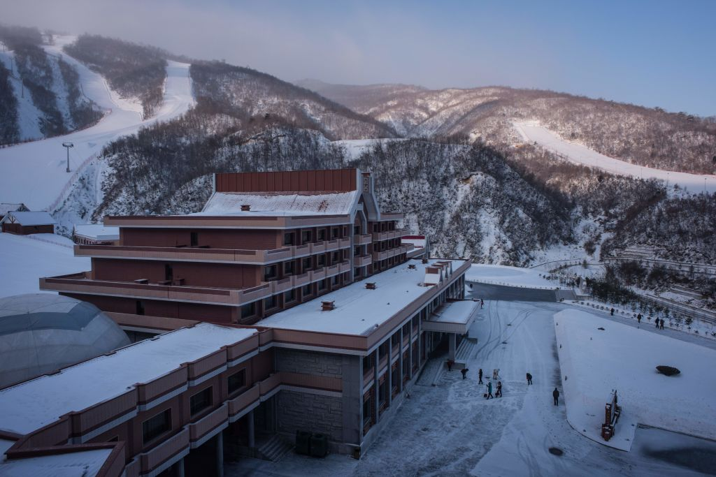 Exterior of North Korean ski resort