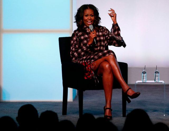 Michelle Obama speaks at the Obama Foundation Conference.