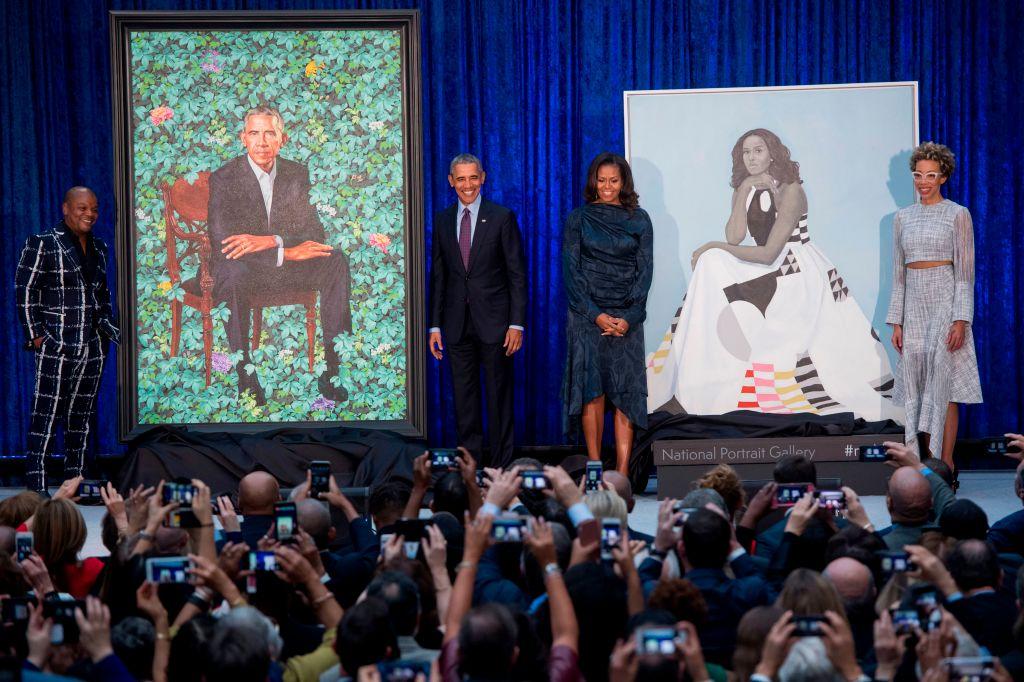 Michelle and Barack Obama portraits