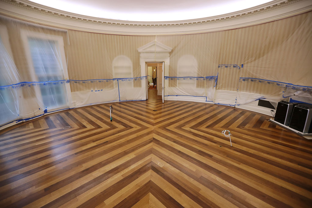 Floor renovation oval office