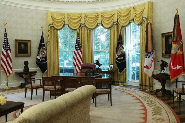 The Oval Office of the White House i
