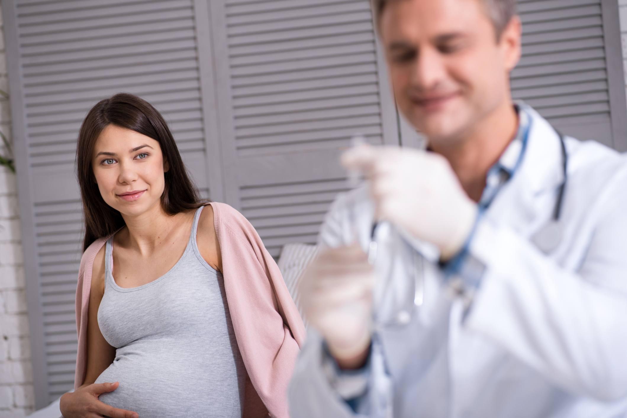 Pregnant getting vaccine