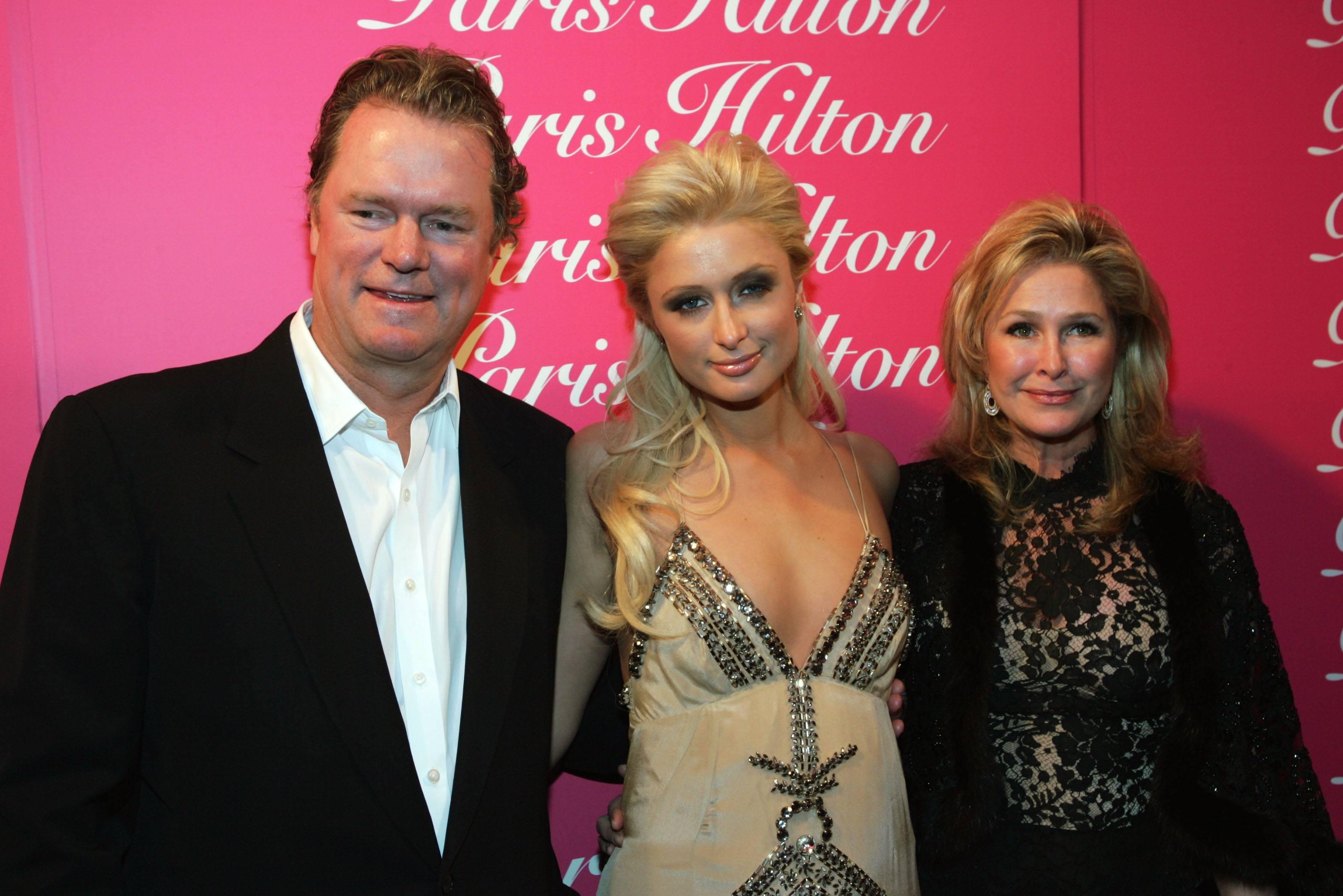 Paris Hilton with her parents Rick and Kathy