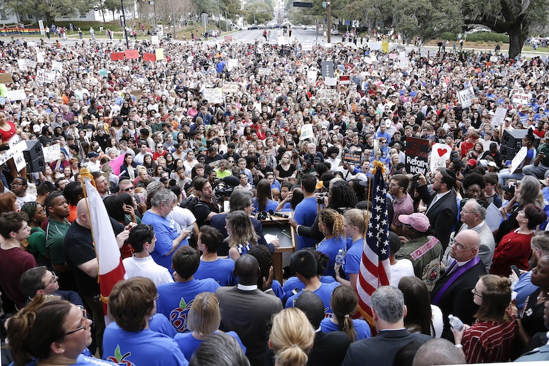 Parkland Students, Activists, Rally At Florida State Capitol For Gun Control