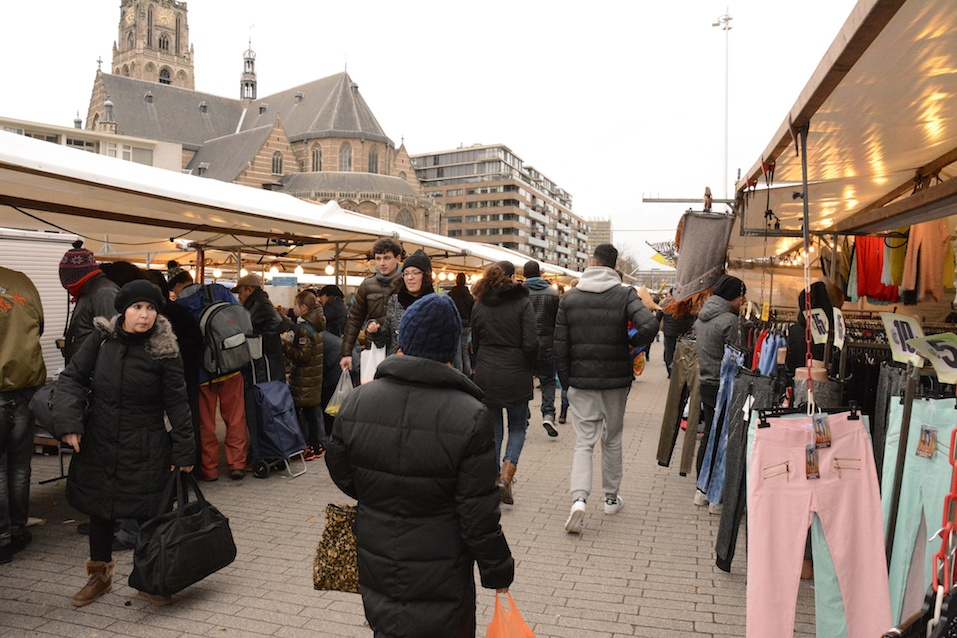 People visit Street Market in Rotterdam