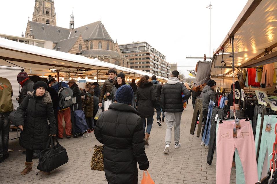 People visit Street Market in Rotterdam