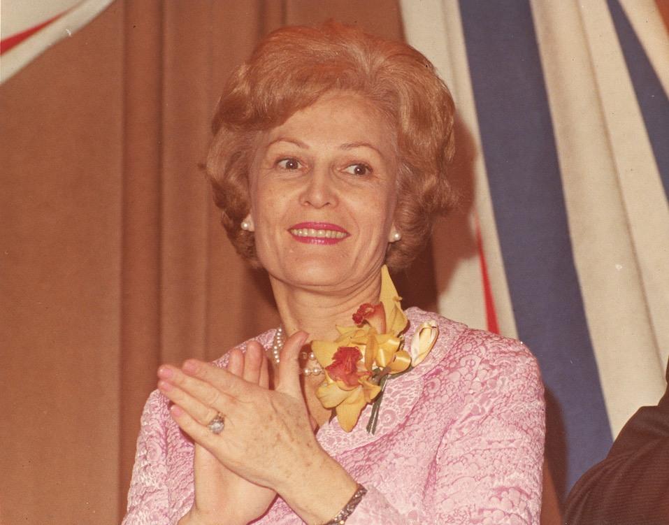 Portrait of former First Lady Pat Nixon wife of American President Richard Nixon