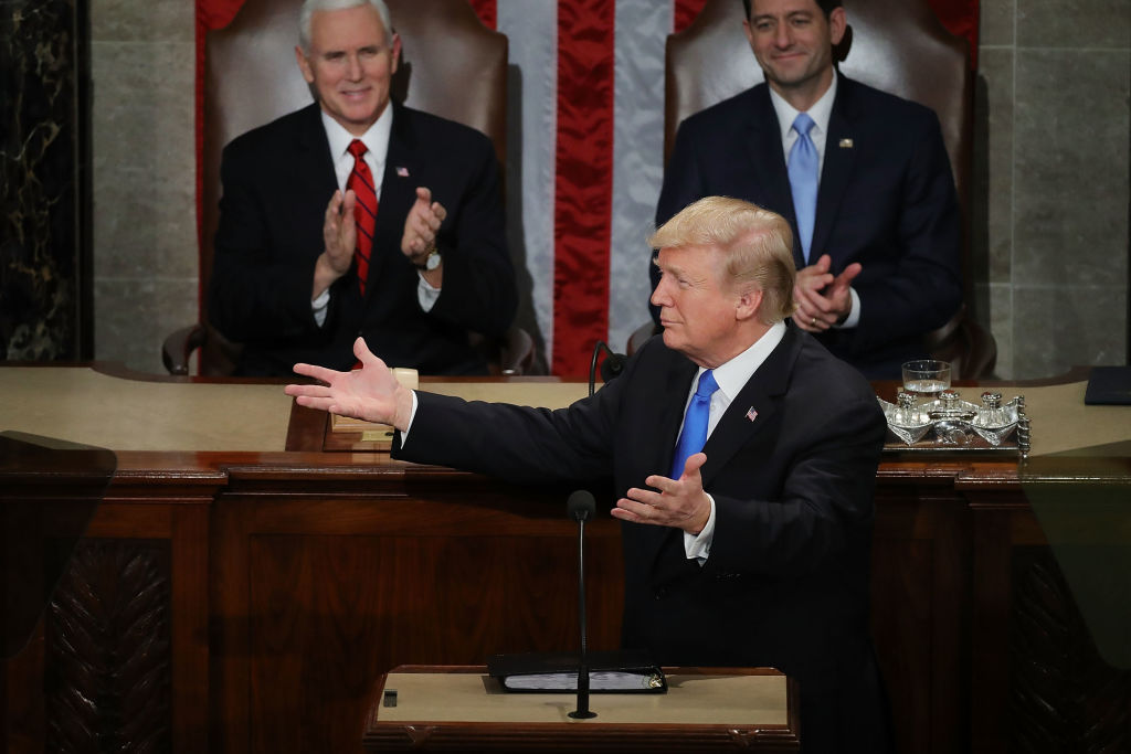 President Donald J. Trump delivers the State of the Union address