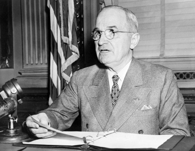 Harry Truman (1884-1972), the 33rd President of th