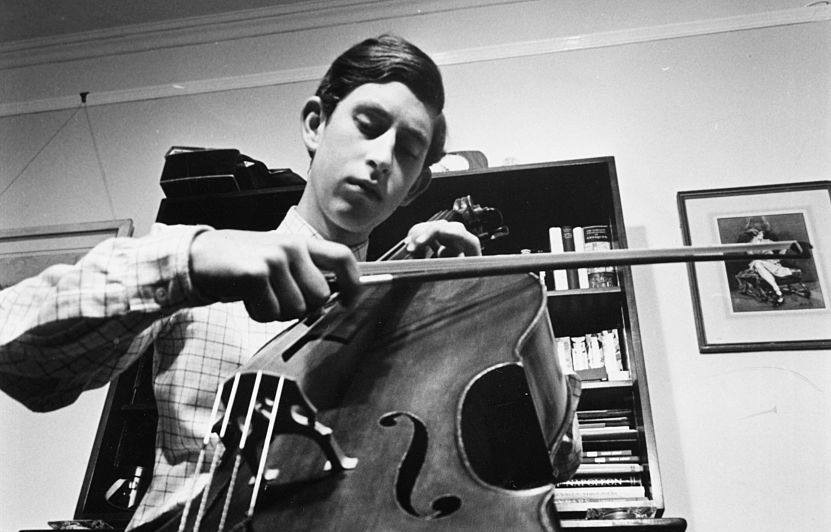 Prince Charles plays the cello