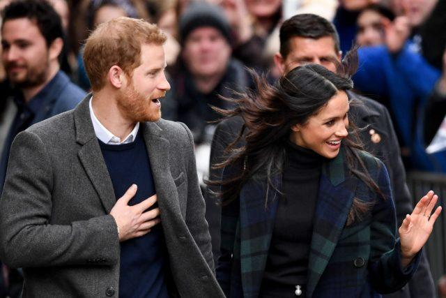 Prince Harry and Meghan Markle leave Social Bite cafe in Rose Street.