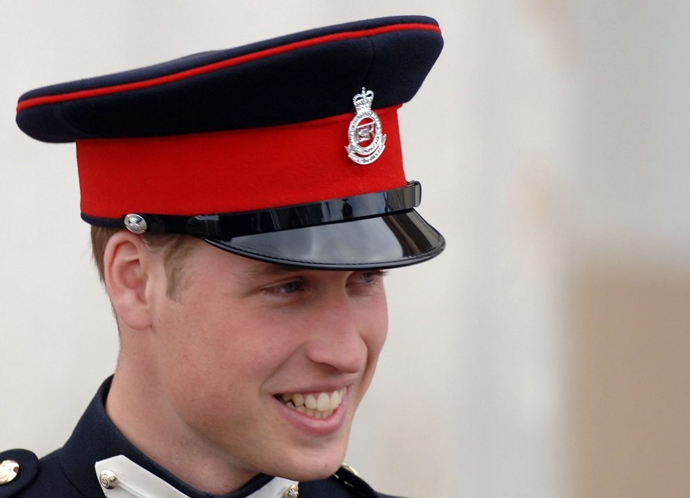 Prince William smiles at the passing-out Sovereign's Parade