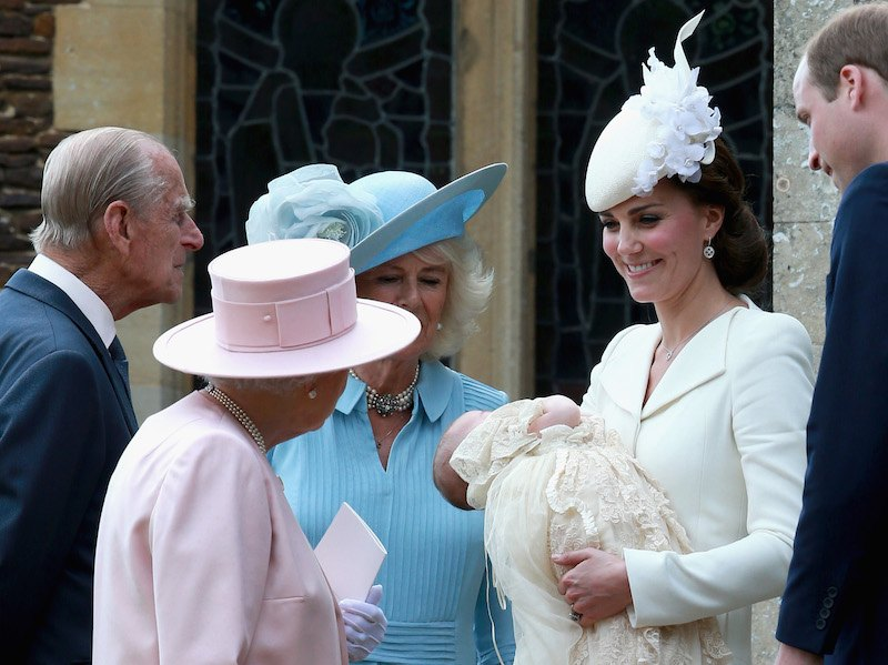 Kate Middleton holding Princess Charlotte