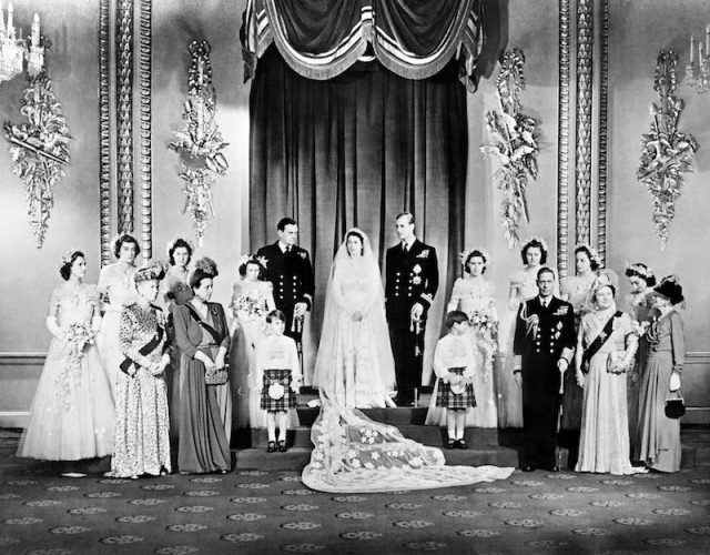 Prince Philip on his wedding day.