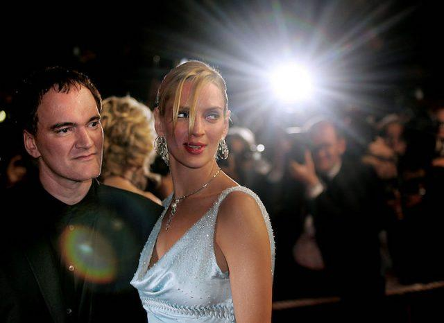 Quentin Tarantino and Uma Thurman at a Kill Bill premiere.