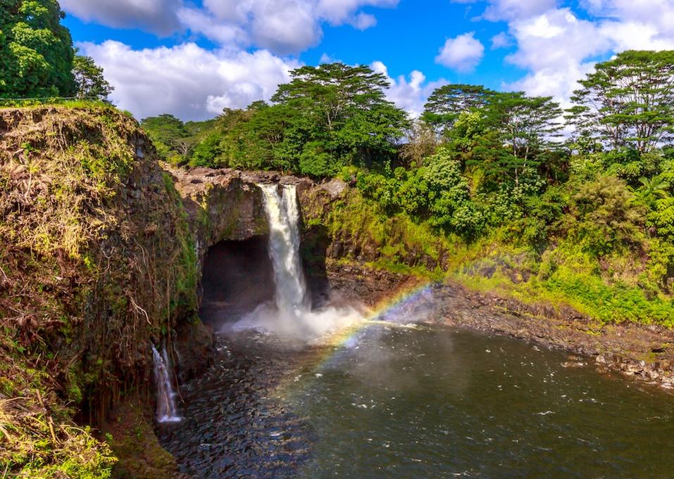 Rainbow Falls in Hawaii