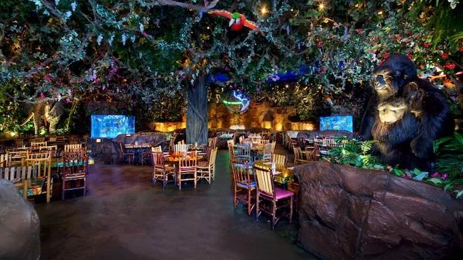 Rainforest cafe restaurant disney