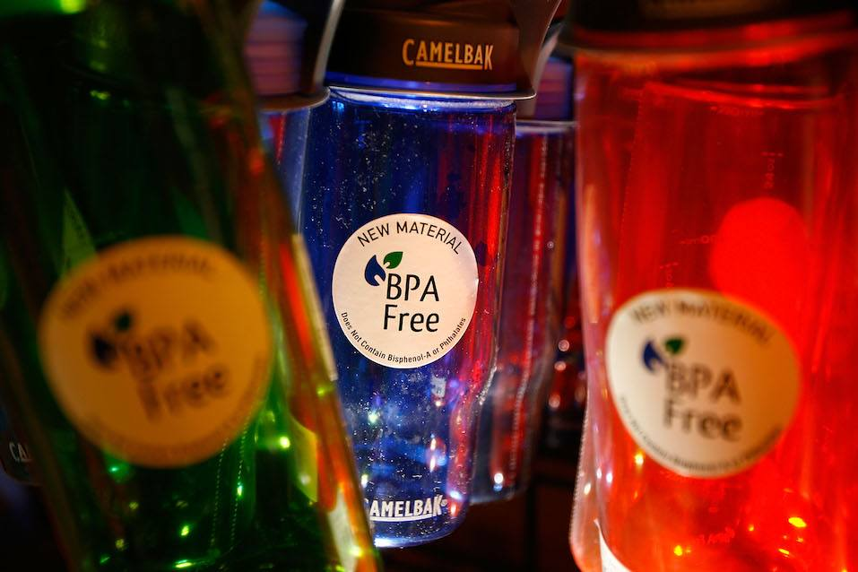 Camelback brand water bottles that are free of the controversial carbonate plastic bisphenol-a (BPA)