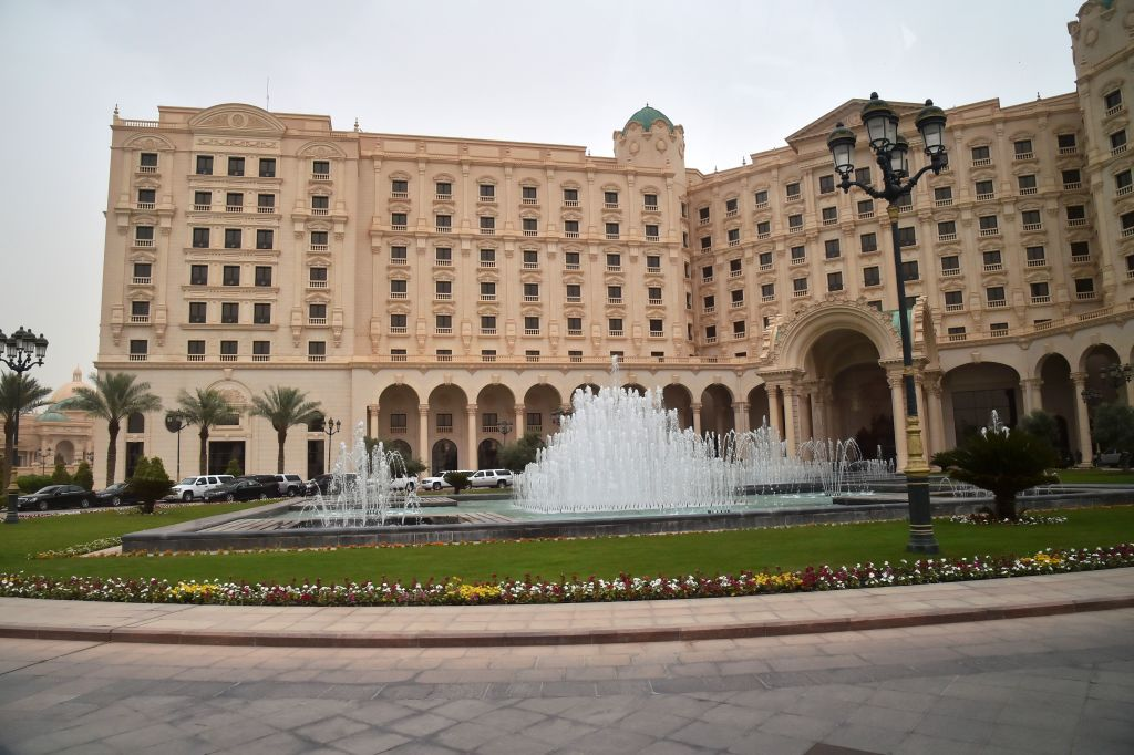 The Ritz-Carlton Hotel in the Saudi capital Riyadh