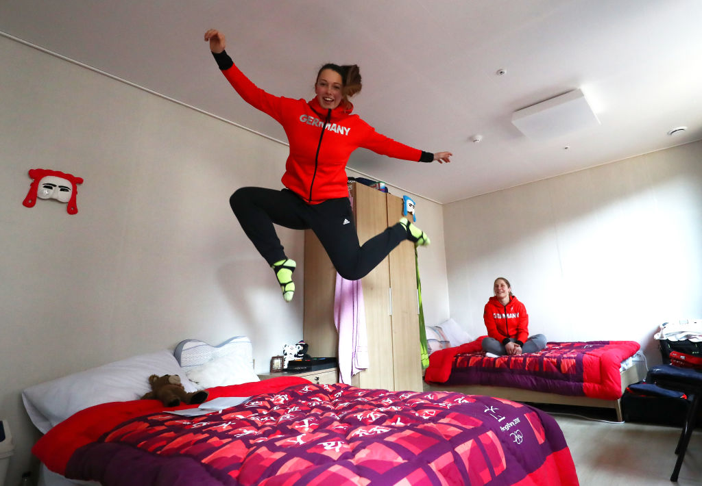 Olympic Athletes' village bedroom in Pyeongchang