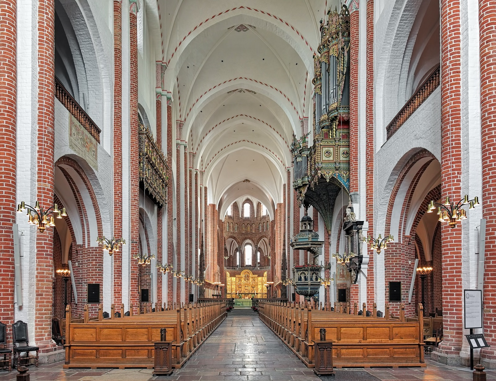 Interior of Roskilde Cathedral, Denmark