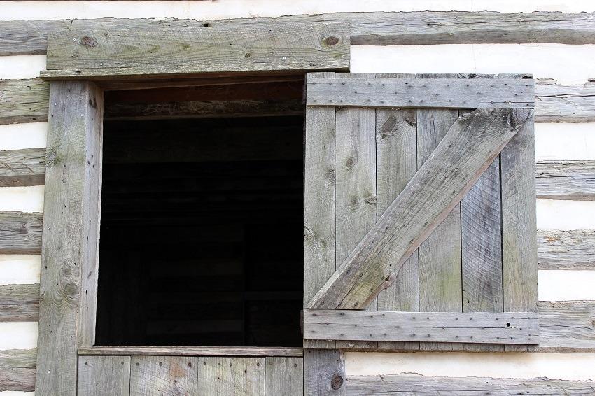 rustic Dutch-style barn door