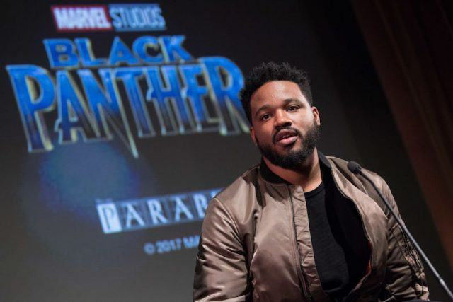 Ryan Coogler at a 'Black Panther' press conference.
