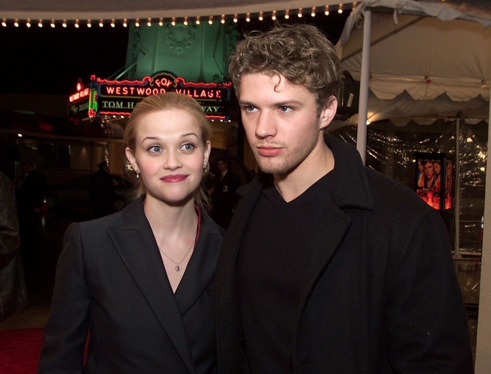 Ryan Phillippe and Reese Witherspoon arrive at the premiere of 'Antitrust'