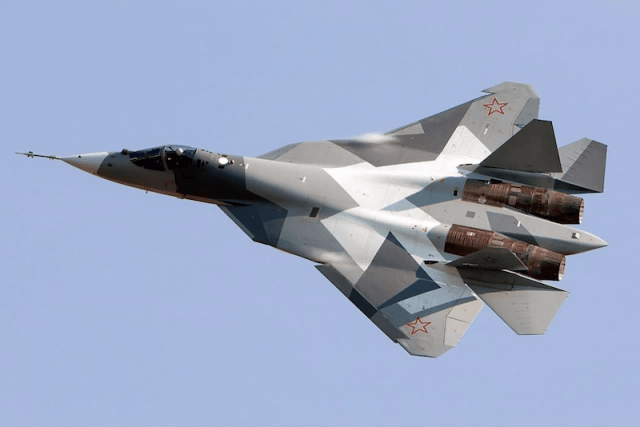 The SU-57 aircraft.