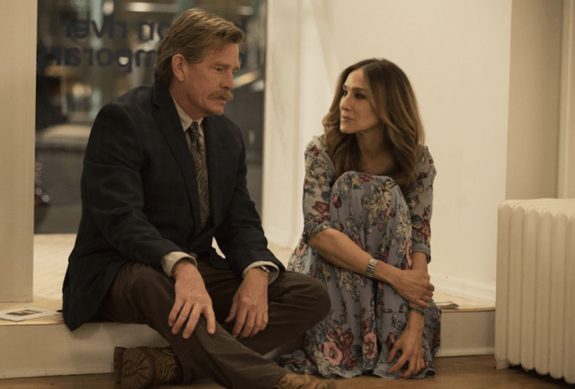 Thomas Haden Church and Sarah Jessica Parker in 'Divorce'.