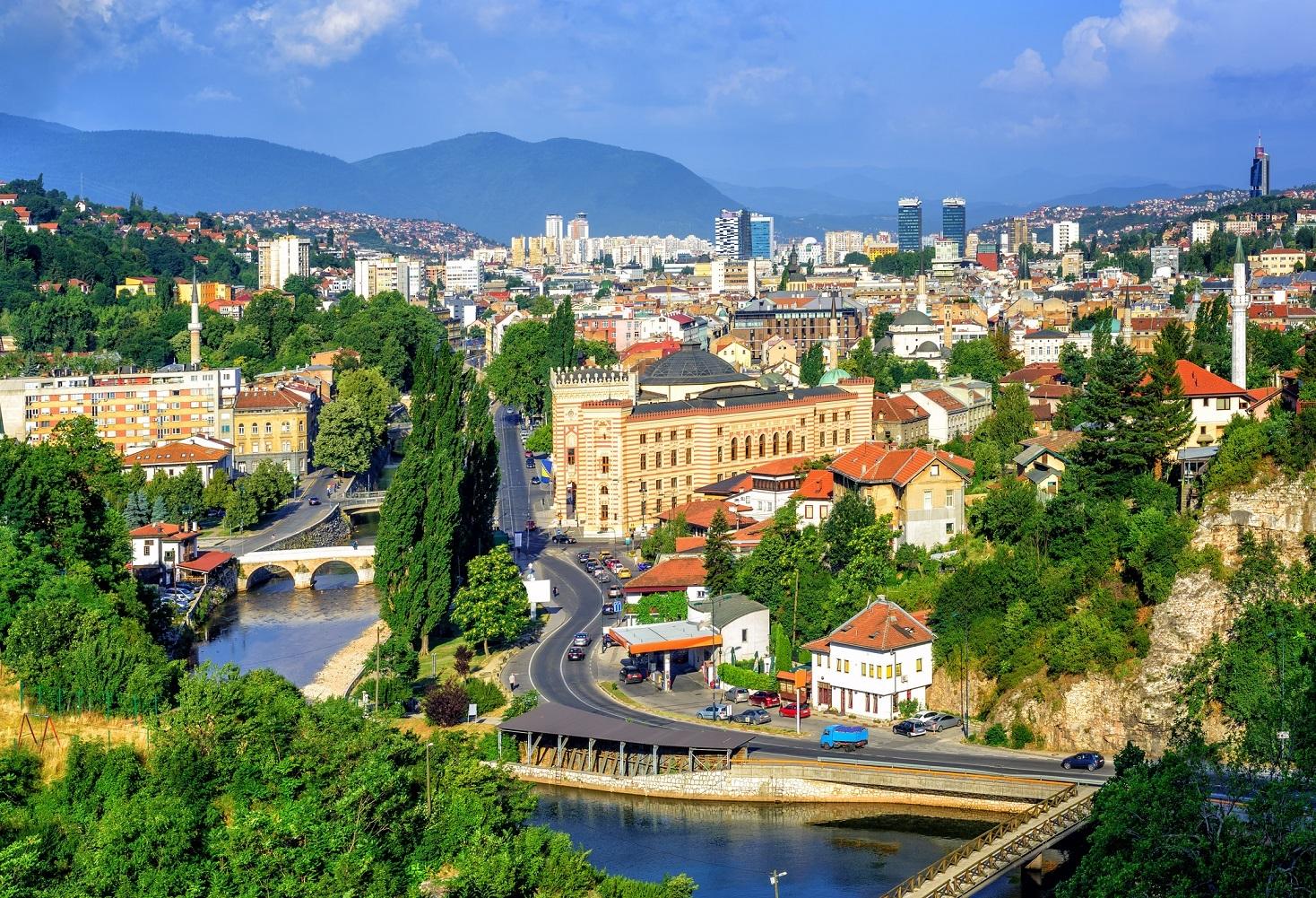 Sarajevo city, capital of Bosnia and Herzegovina